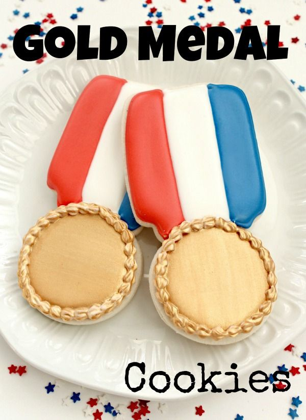 Olypic Gold Medal Cookies - from @SweetSugarBelle {Callye Alvarado}