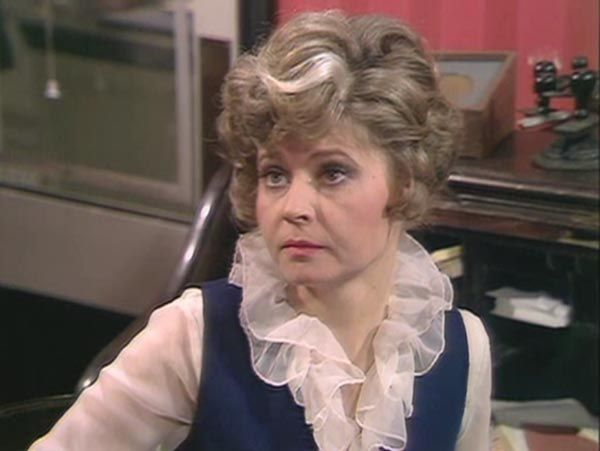Sybil Fawlty, never knowingly under-ruffled.