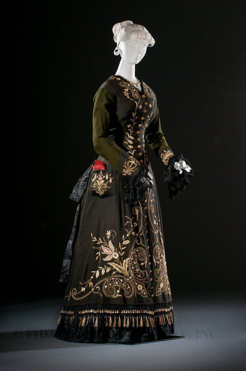 Dress ca. 1876  From the Helen Larson Historic Collection Museum via the FIDM Museum Blog