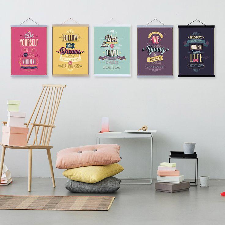 Goedkope Motivational Typografie Leven Citaat A4 Grote Vintage Retro Poster Print Hipster Foto Canvas Schilderij Geschenken Home Decor Art, koop Kwaliteit Schilderen& kalligrafie rechtstreeks van Leveranciers van China: