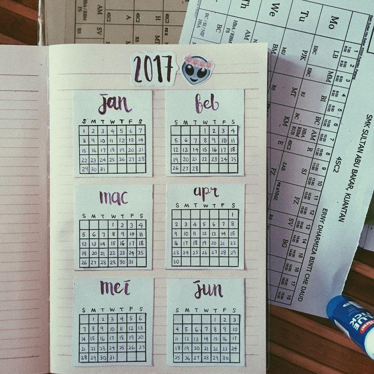 journal calendar 2017
