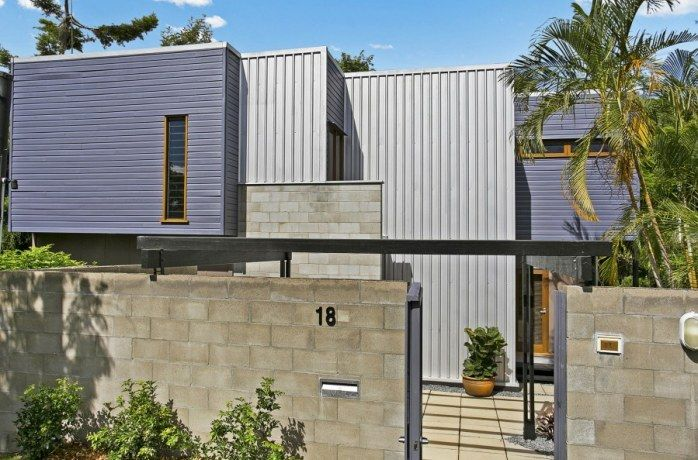 Vertical and horizontal timber cladding