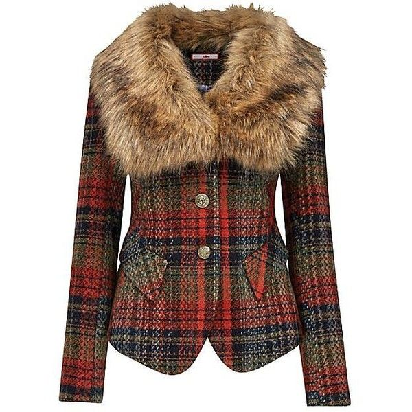 The price of this plaid jacket with fur collar is NUTS! Bet I could do something like this myself. Need to repurpose an old fur coat. Sew!