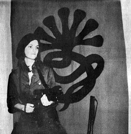 U.S. Patty Hearst, daughter of publisher Randolph Hearst, kidnapped by SLA, February23, 1974