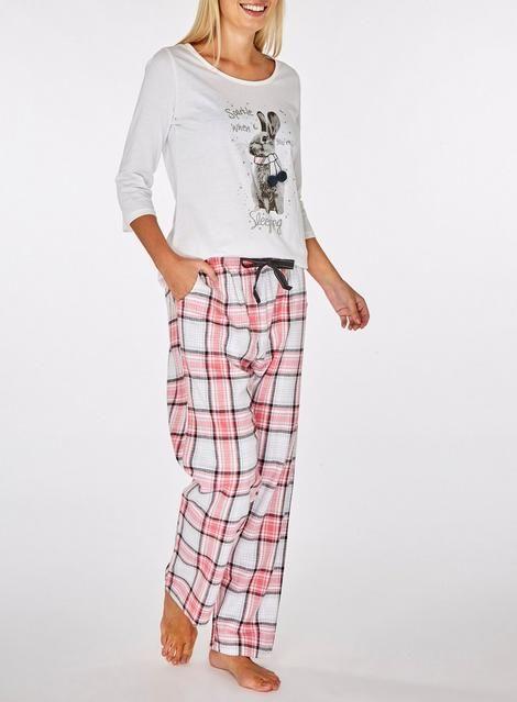 54f99ec0c66a Multi-coloured Embellished Rabbit Motif Pyjama Set - Nightwear   Loungewear  - Clothing