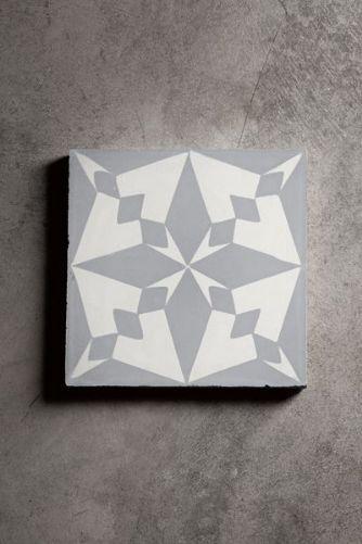 Handmade Concrete Tile - Grey Pole