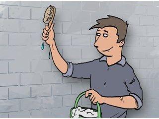 Oude verflaag van bakstenen muur verwijderen - Livios