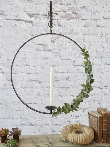 Hanging Wrought Iron Candle Holder - XL