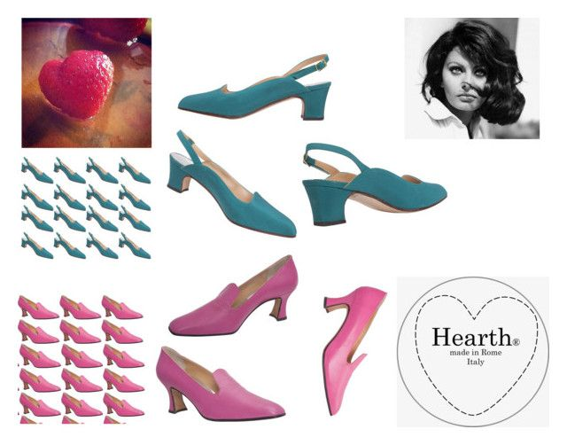 """handmade in Rome Shoes"" by hearthfashion on Polyvore featuring moda"