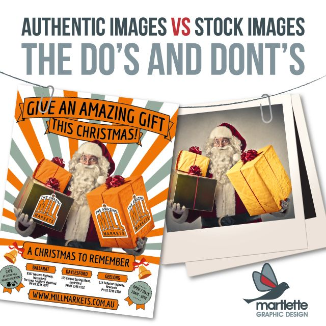 Authentic Images vs Stock images Can we use both?  Next time you are chatting with your graphic designer or website designer about the images you would like to use on your website or promotional materials, first ask yourself this simple question… What do we want the image or photograph to SAY to our audience?  Read more... http://www.martlette.com.au/blog/