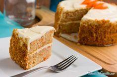 Torta de zanahoria con nueces y canela