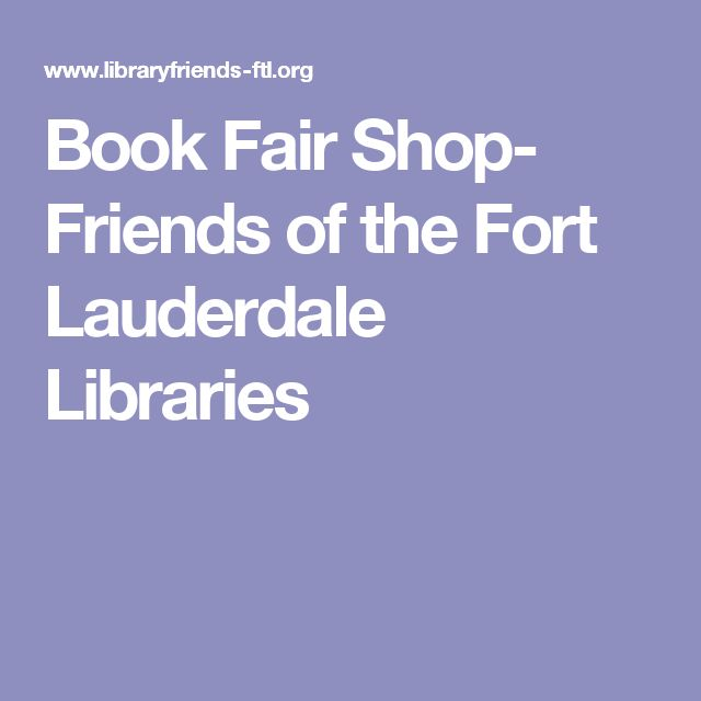 Book Fair Shop- Friends of the Fort Lauderdale Libraries