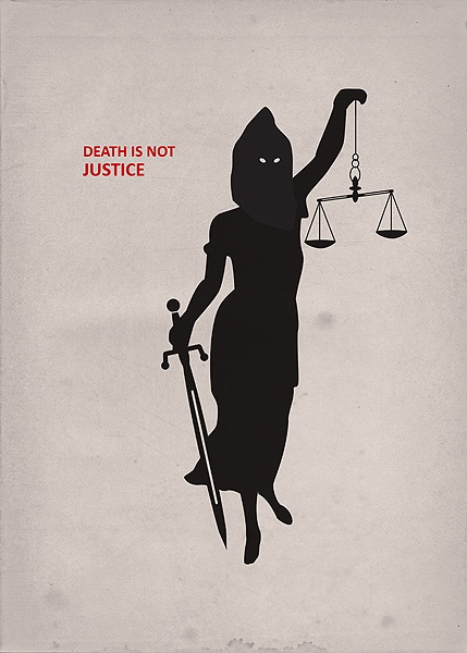 """""""Death is not Justice"""" Poster For Tomorrow"""