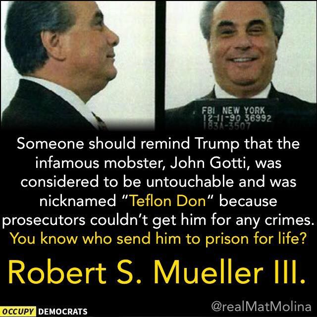 Make no mistake....THIS causes trump many sleepless nights. He knows Bob Mueller is The Real Deal & right now trump is doing everything possible to stop him. From firing anyone who won't lie & protect him to releasing that Altered, One Sided Memo Against the FBI. He should be worried!!!