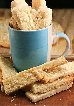 Twice Baked Swedish Butter Cookies (Swedish Biscotti!). So addicting and buttery sweet, It's hard to not eat them all yourself! And, perfect coffee dippers!