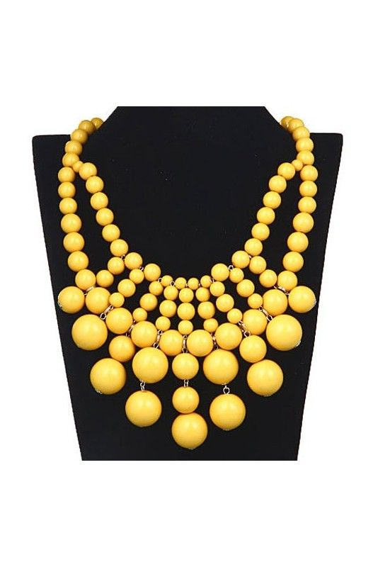 """""""Bubble Bib"""" Statement Necklace-     17 inch neck circumference!     2 inch extension chain included!     Available in other colours!!"""