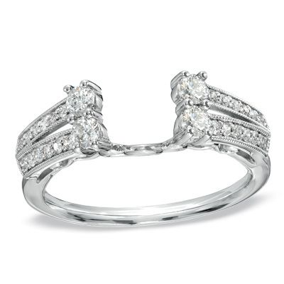 1/2 CT. T.W. Diamond Solitaire Enhancer in 14K White Gold