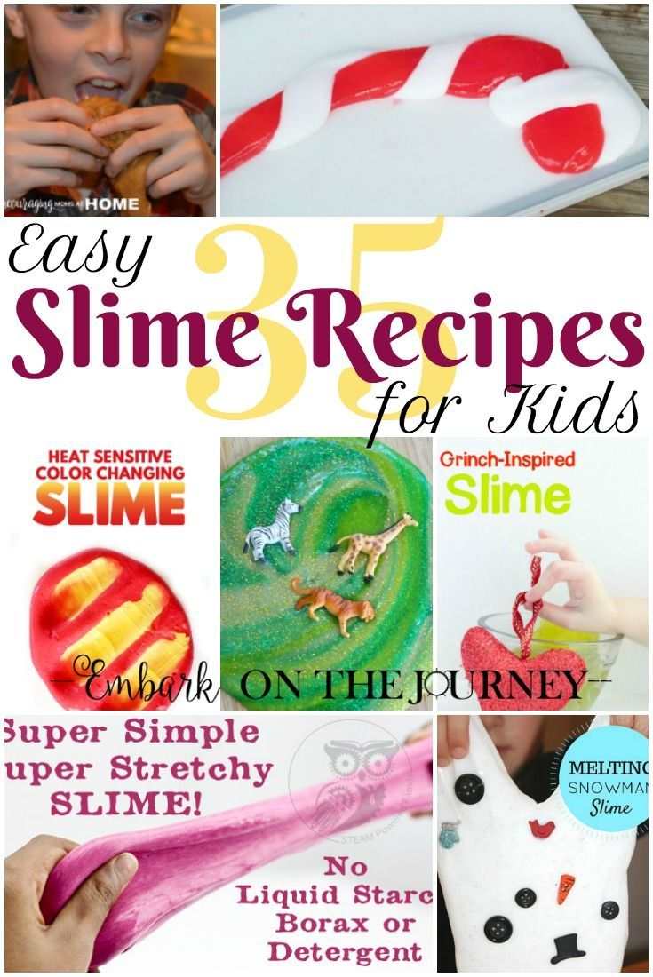 If your kids are as obsessed with slime as mine is, you have to check out this amazing collection of over 35 easy slime recipes for kids! | embarkonthejourney.com via @letsembark