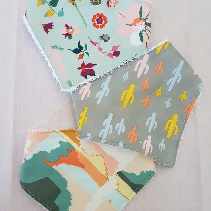 Set of 3 organic cotton and terry towelling bibs $12 + postage