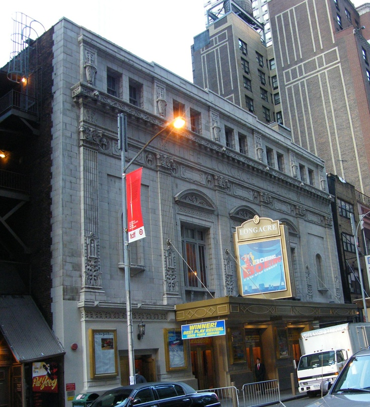 Longacre Theatre, Boeing Boeing marquee
