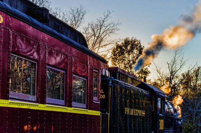 The Texas State Railroad in Palestine during the Polar Express holiday season!