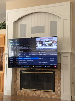 """""""Perfect Solution: Great product, extremely well made. Perfect for putting the TV above the fireplace, which looks nice and saves room, without sacrificing the perfect viewing angle when watching a movie."""" F.D. #pulldowntvmount"""