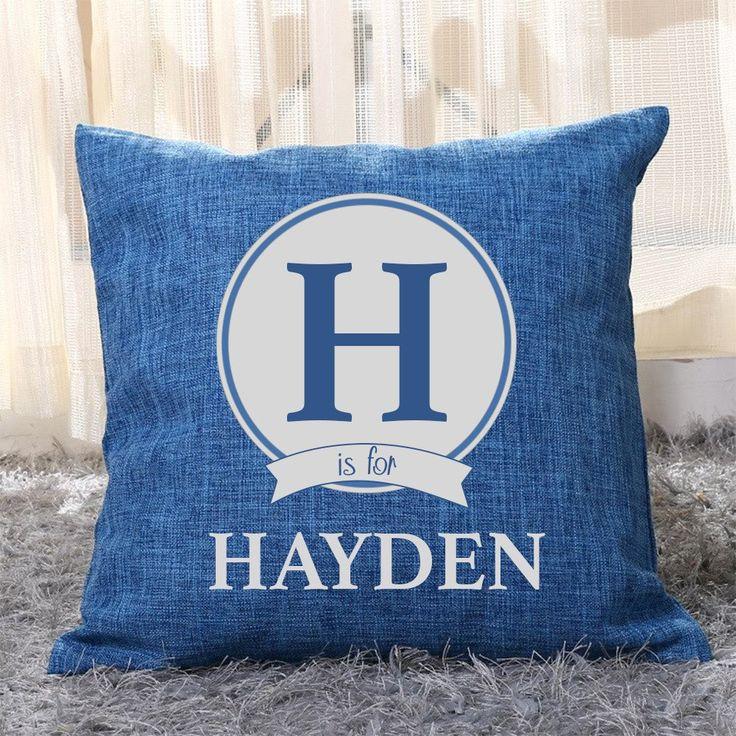 Alphabet Name Pillow Cover