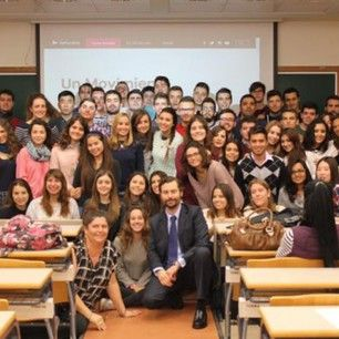Our students of Politics, after a very interesting master class on inequality @user #UCHCEU #University #Politics #HerForShe