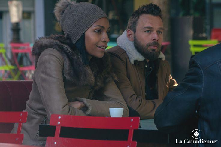 La Canadienne - Blouson pilote homme marron, Manteau 3/4 peau lainée femme // www.la-canadienne.com