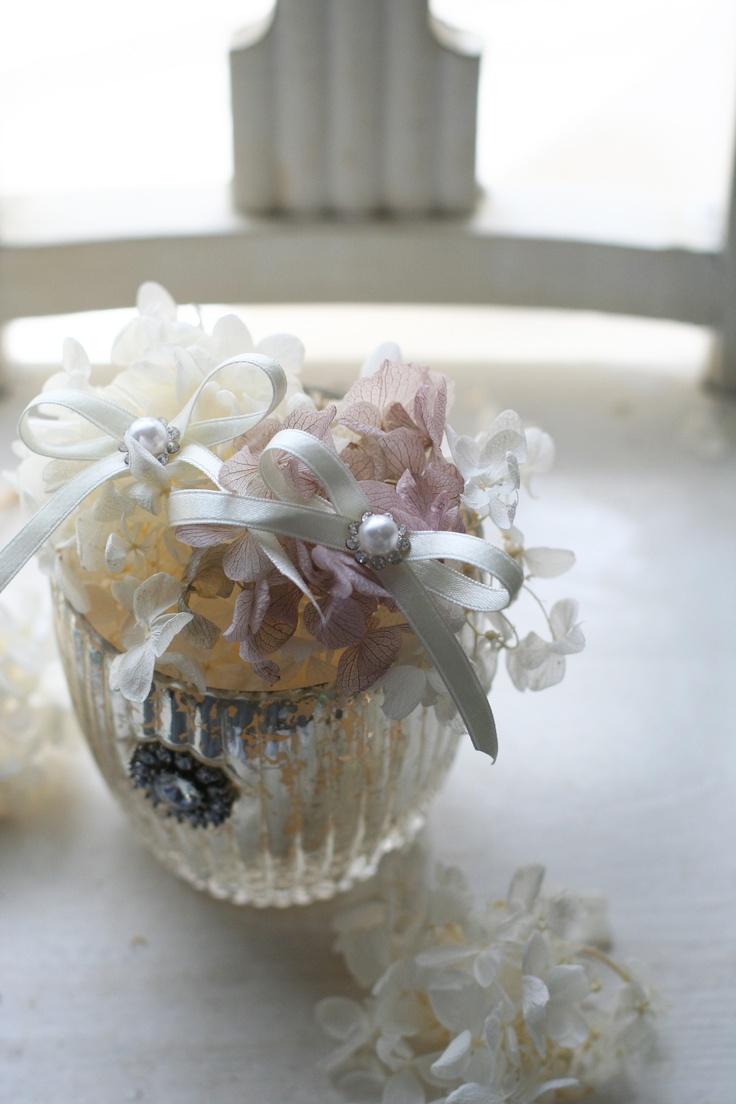 Hydrangea ringpillow