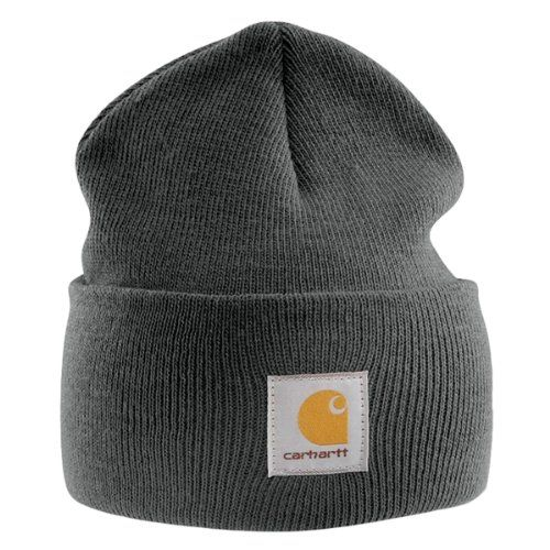 Buy Carhartt - Acrylic Watch Cap - Charcoal Branded Beanie Ski Hat  Shop  top fashion brands Skullies   Beanies at ✓ FREE DELIVERY and Returns  possible on ... 7eeca7ff5f06