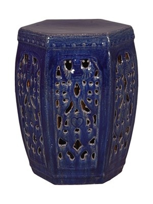 Blue Hexagon Ceramic Garden Stool  sc 1 st  Pinterest & 31 best Garden Stools images on Pinterest | Ceramic garden stools ... islam-shia.org