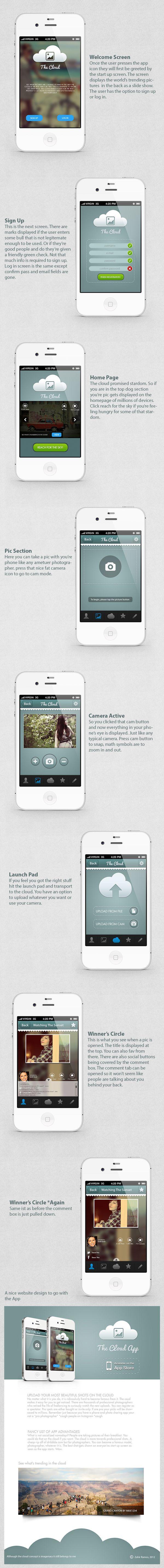 The Cloud Photo #App - iOS by Zahir Ramos, via #Behance #Mobile