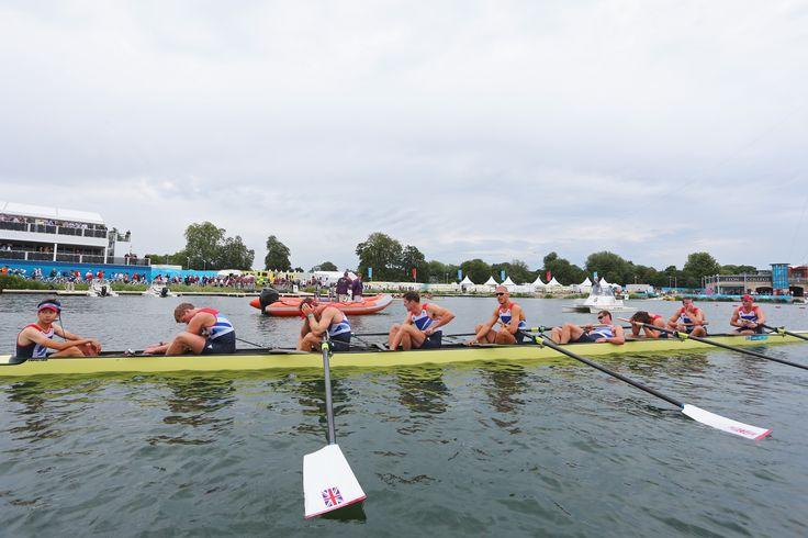 Alex Partridge, Tom Ransley, Mohammed Sbihi, Matthew Langridge, Phelan Hill, James Foad, Richard Egington, Greg Searle, Constantine Louloudis winning bronze in rowing at London 2012