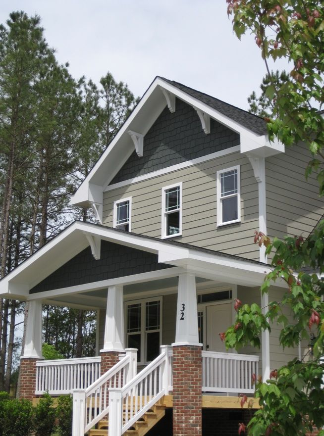 Craftsman Style Home Decorating Ideas: Making A House A Home Using Exterior Color