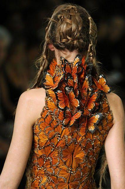 Butterfly Dress by Alexander Mc Queen