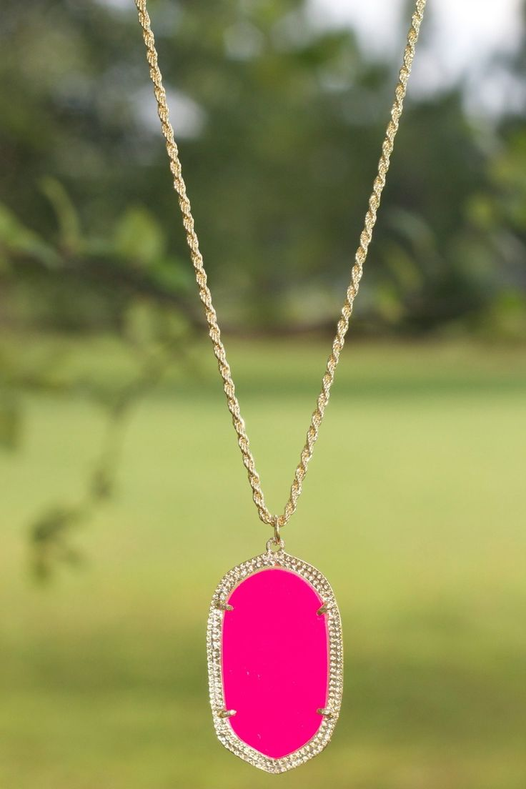 The Kendra Necklace: Hot Pink!