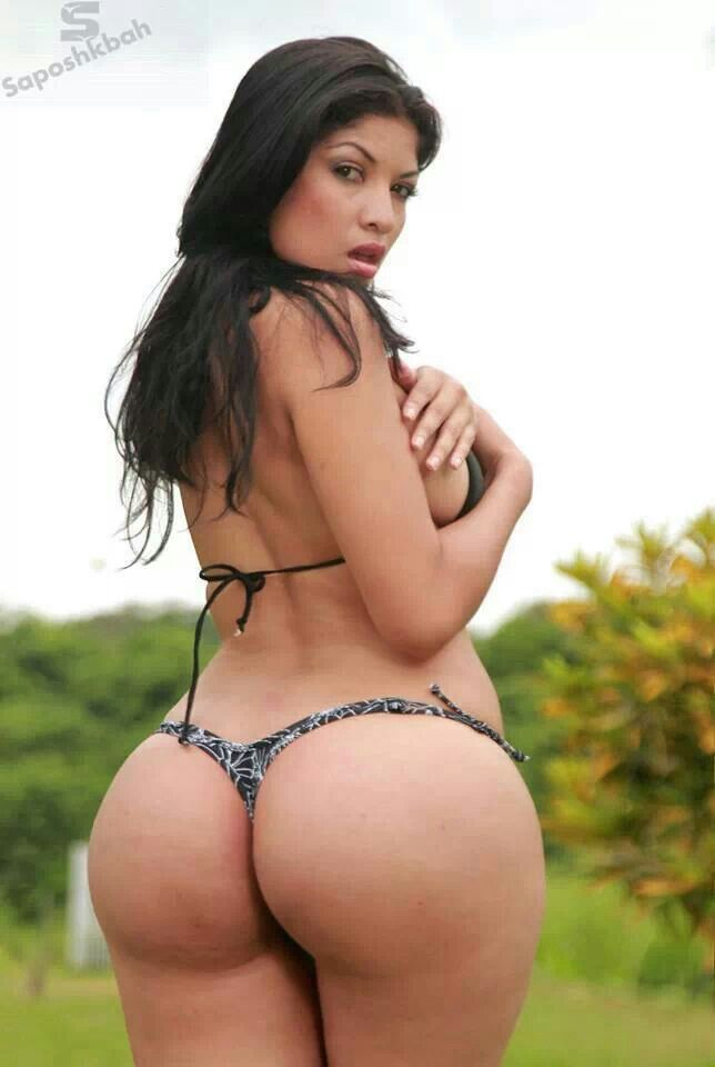 Beautiful sexy latina ass thong