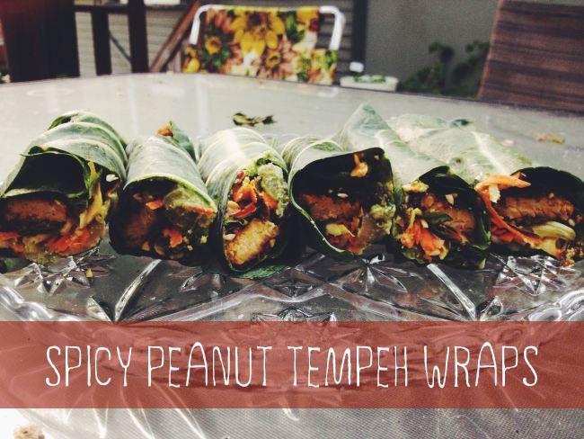 Spicy Peanut Tempeh Wraps