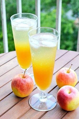 Шипучий пунш из яблочного сидра