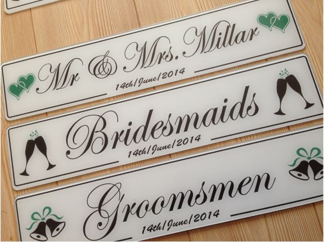 just married black wedding number plates donegal. Black Bedroom Furniture Sets. Home Design Ideas