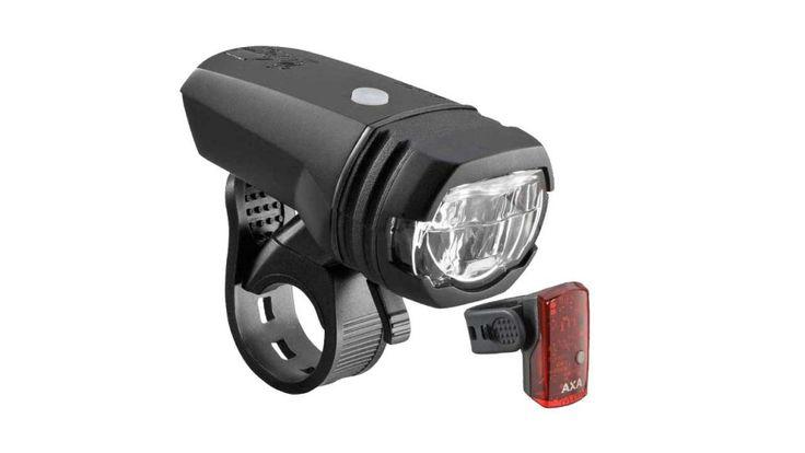 AXA Greenline Fahrrad Scheinwerfer & Rücklicht ▷ StVZO Zul., USB Aufladung ✚ Schnellspanner. 15, 35 & 50 LUX ➥ Effektive Fahrradbeleuchtung für die Nacht ✅