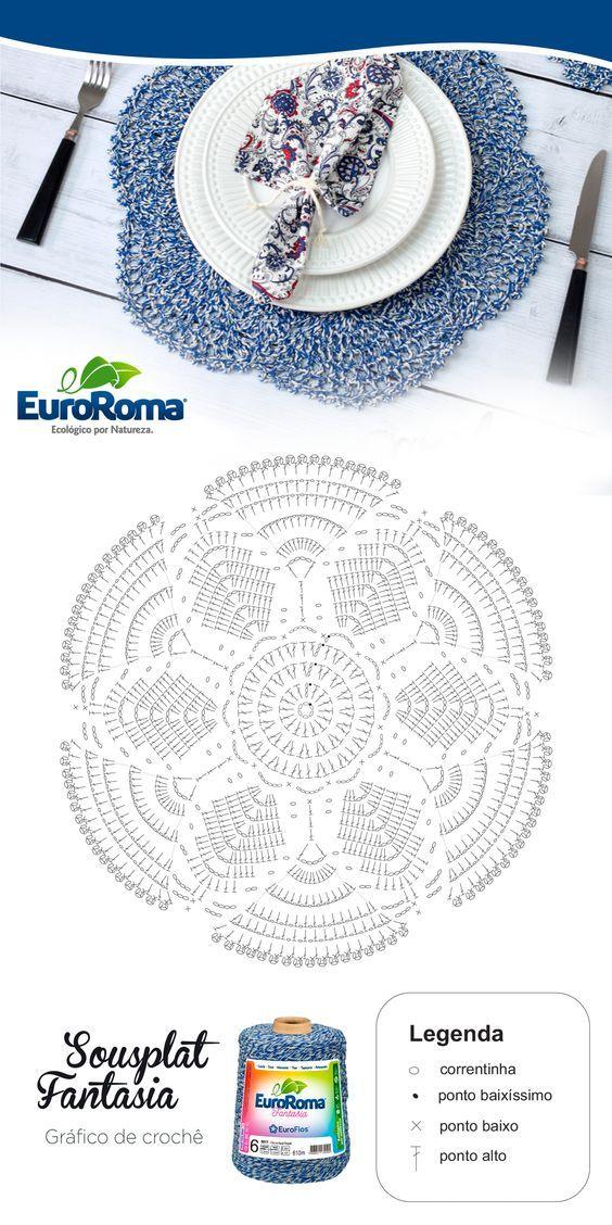 64 Mini Carpetas circulares en crochet (Patrones) | Crochet y Janet ...
