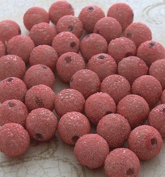 Roze suiker kralen roze Vintage lucite kraal door TheBeadSource