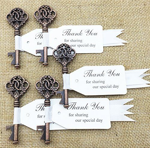 30pcs Wedding Favor Skeleton Key Bottle Opener with Escort Tag Ribbon Card Bridal Shower Baby Shower Seating No Rustic Wedding DLWedding http://www.amazon.com/dp/B014DNDE3O/ref=cm_sw_r_pi_dp_mSkHwb0NNZVXE