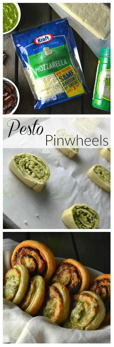 [ad] Pesto Puff Pastry Pinwheels | Delish D'Lites #NaturallyCheesy #CollectiveBias