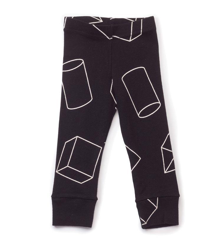 Nununu Geometric Leggings Black