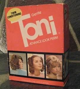 Toni and Lilt Perms with plastic rollers and sponge wrappers. They smelled terrible and made your eyes burn, but they worked.