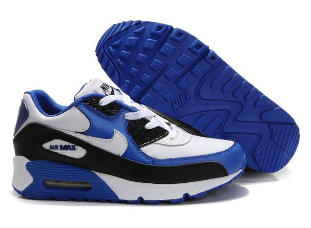 Ken Griffey Shoes Nike Air Max 90 Royal Blue White Black [Nike Air Max 90 -  Great quality and modern design enable the Nike Air Max 90 Royal Blue White  ...