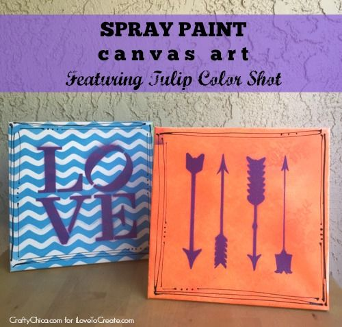 iLoveToCreate Blog: Spray Paint Canvas Art